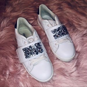 Shoe dazzle Daiana Jeweled sneakers